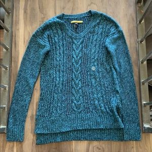 🌹NWT Prince and Fox Purl Knit Blue Sweater
